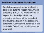 parallel sentence structure8