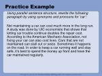 practice example