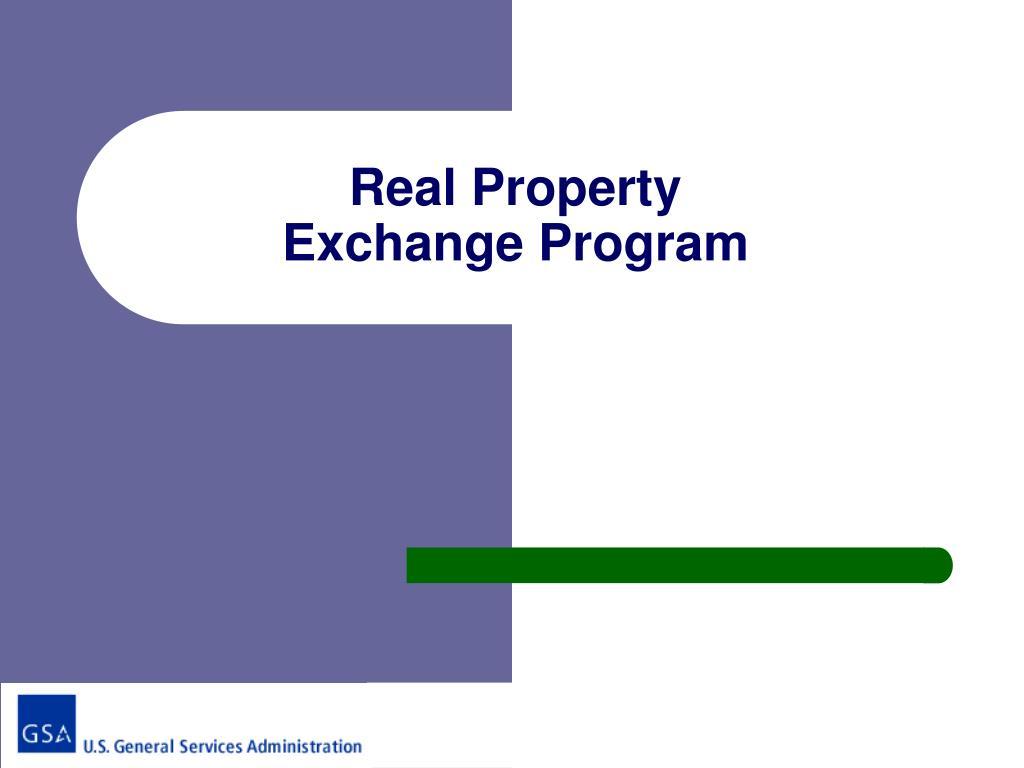 real property exchange program l.
