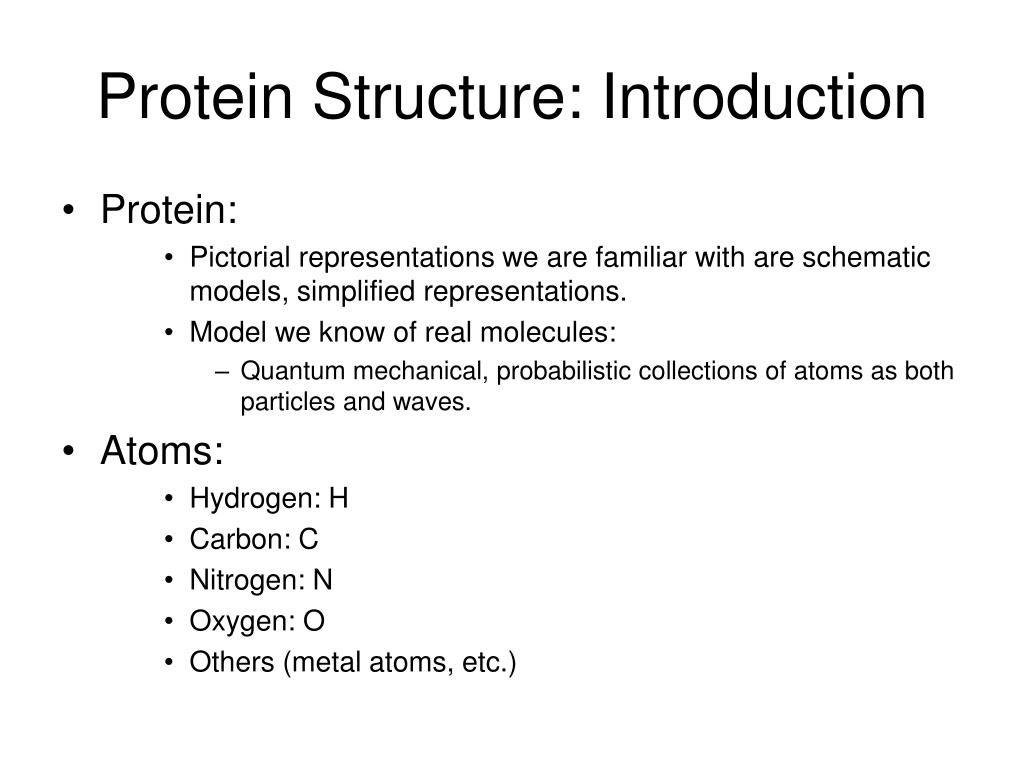protein structure introduction l.