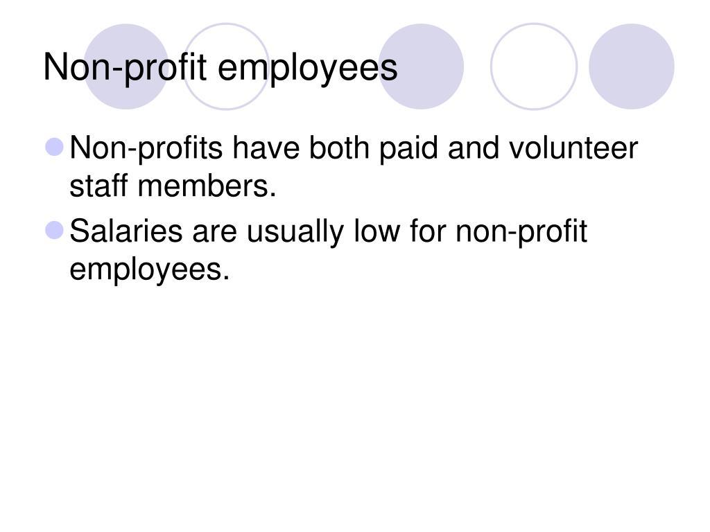 Non-profit employees