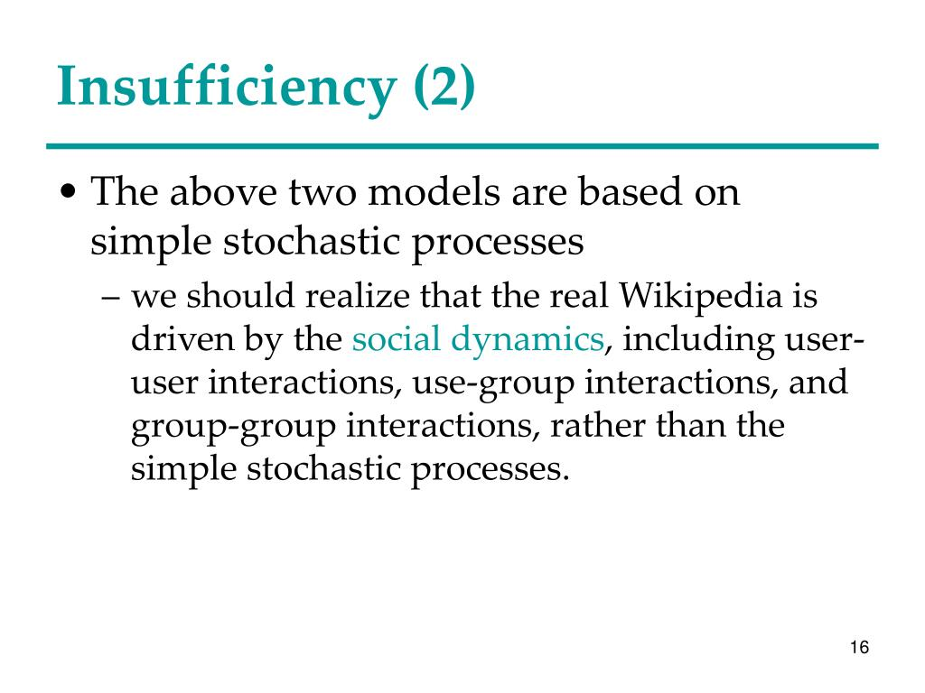 Insufficiency (2)