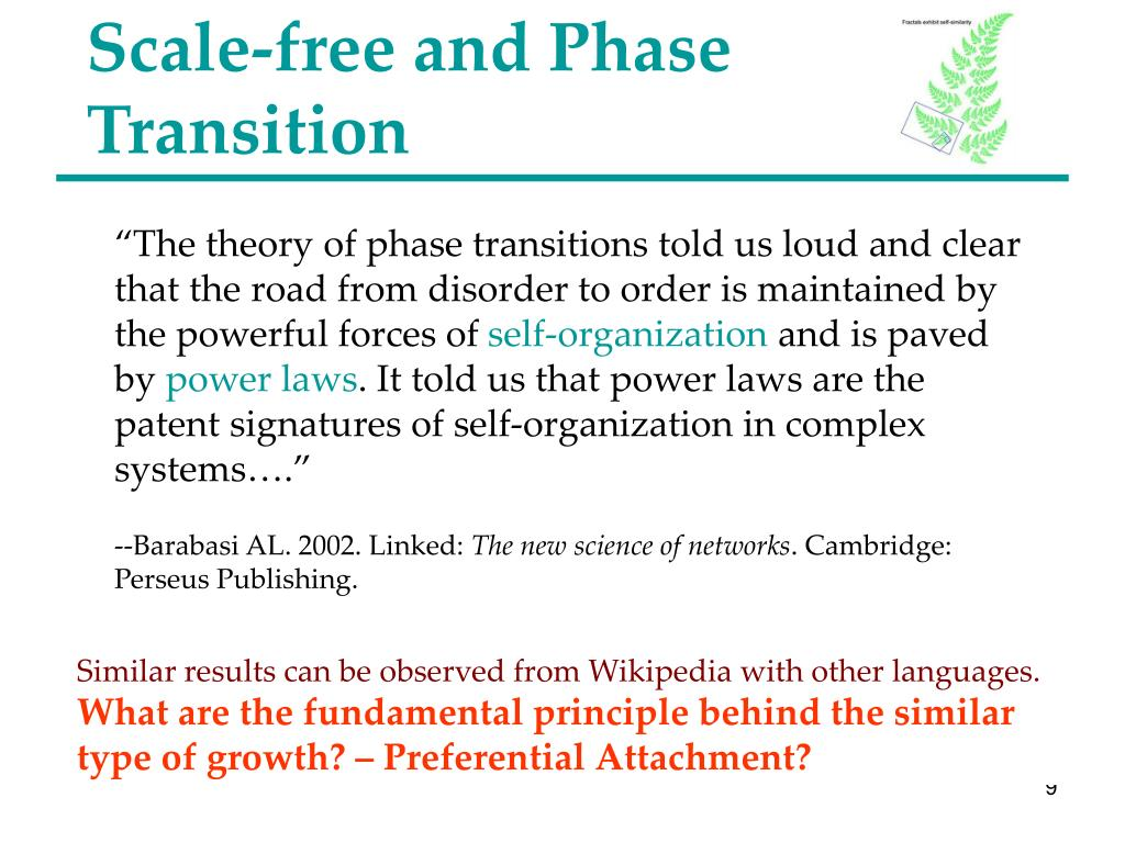 Scale-free and Phase Transition