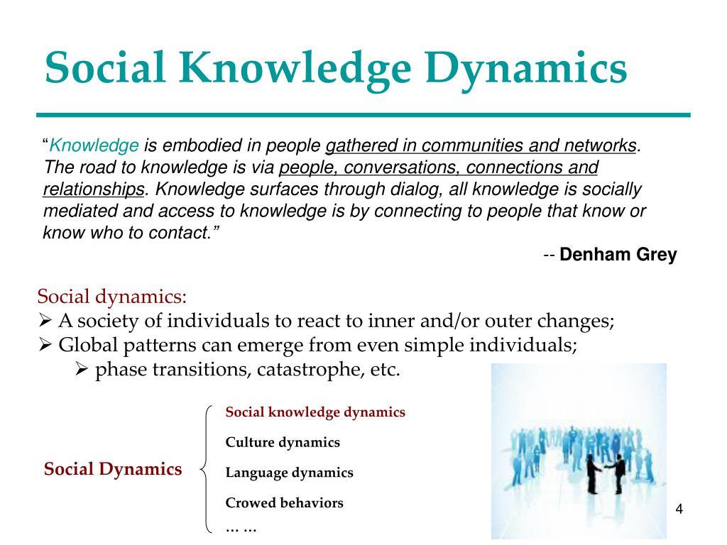 Social knowledge dynamics