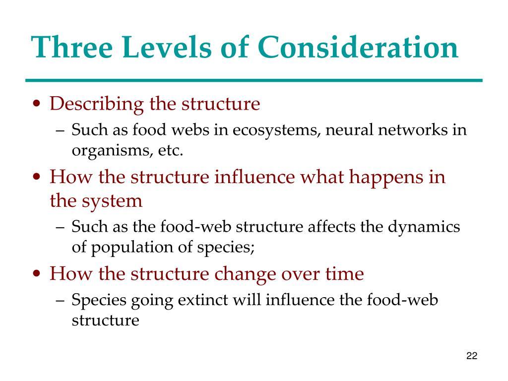 Three Levels of Consideration
