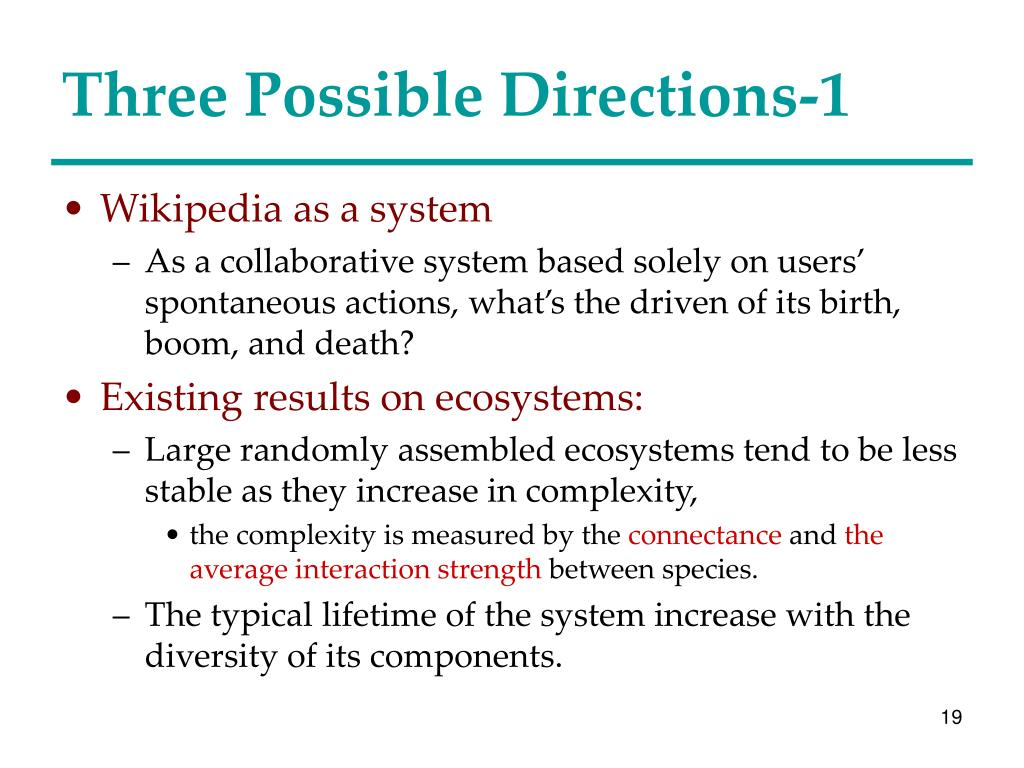 Three Possible Directions-1