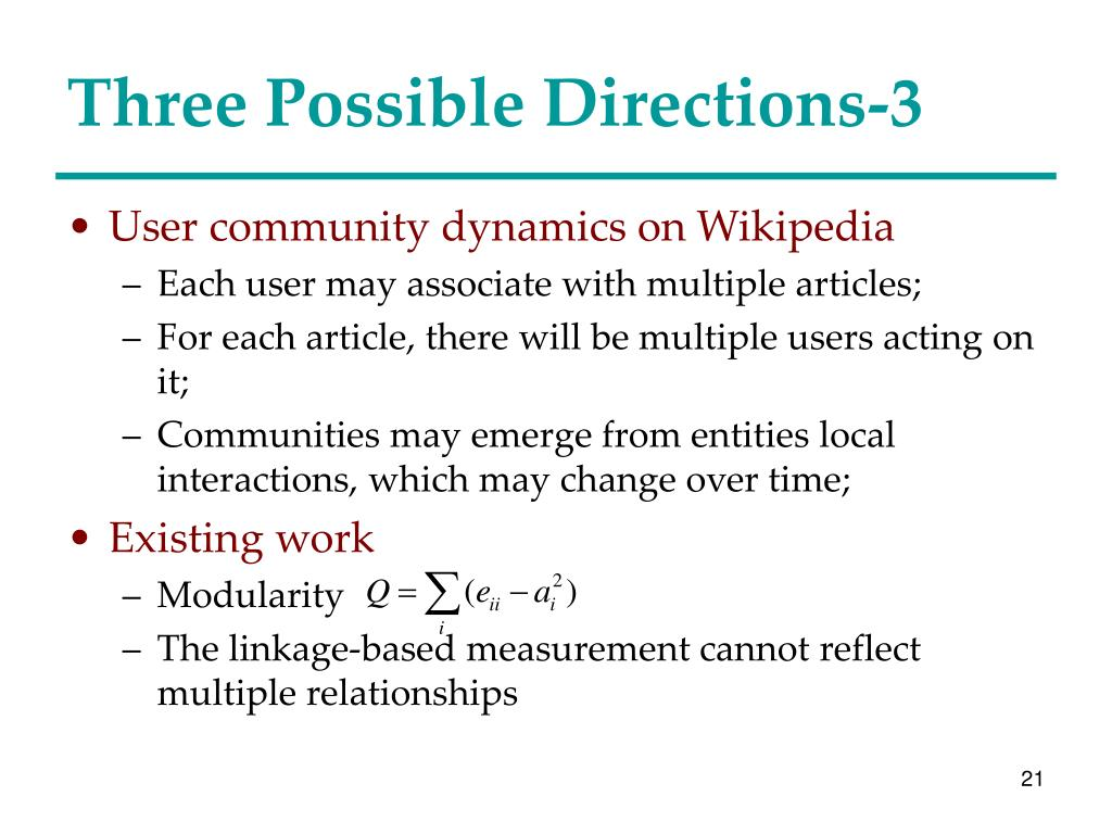 Three Possible Directions-3