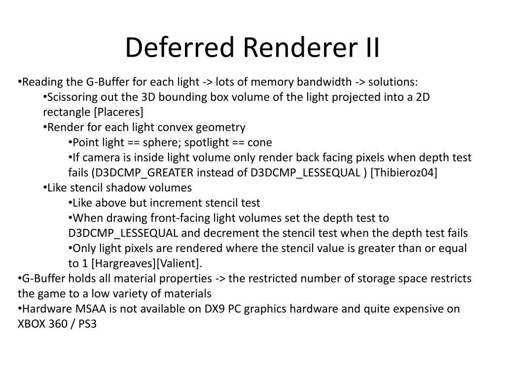 Deferred Renderer II