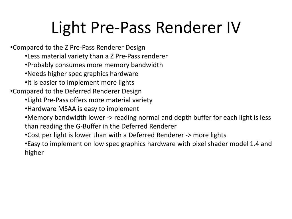 Light Pre-Pass Renderer IV