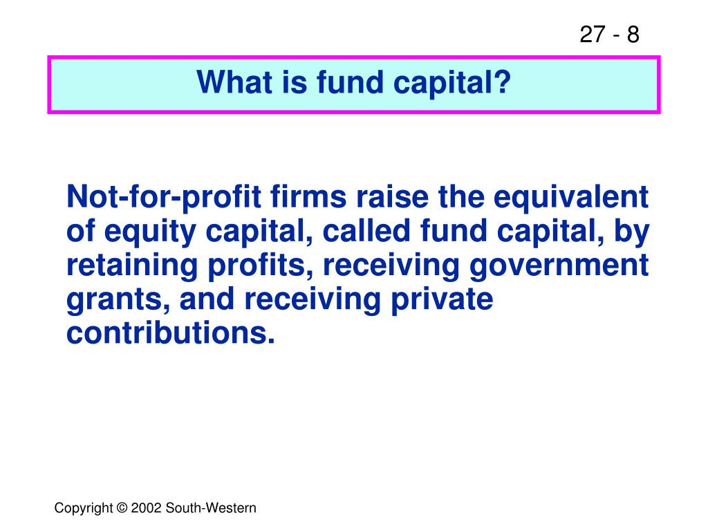 What is fund capital?