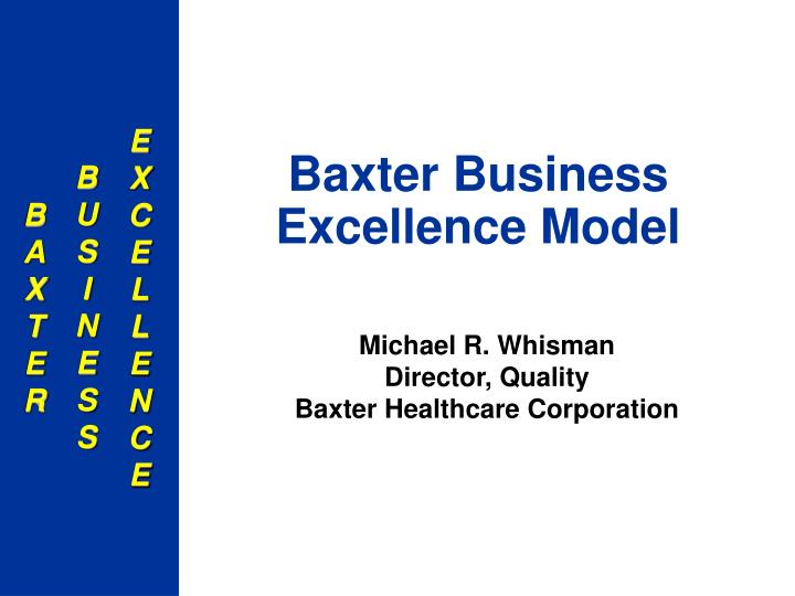 baxter business excellence model n.