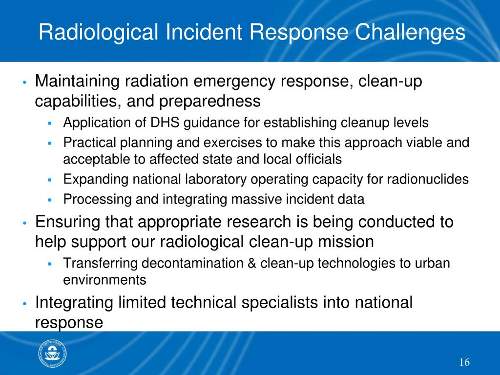 Radiological Incident Response Challenges