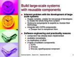 build large scale systems with reusable components