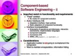 component based software engineering ii