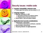 security issues mobile code