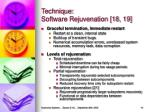 technique software rejuvenation 18 19