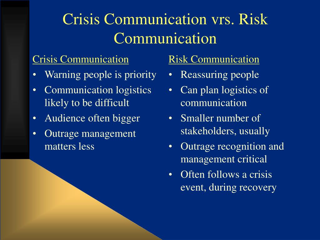 crisiscommunication final Crisis communication plan 1 signed endorsement from director 2 • who must review for final approval (include higher authority) • need to know vs want to know.