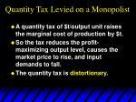 quantity tax levied on a monopolist