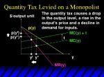 quantity tax levied on a monopolist27