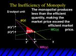 the inefficiency of monopoly35