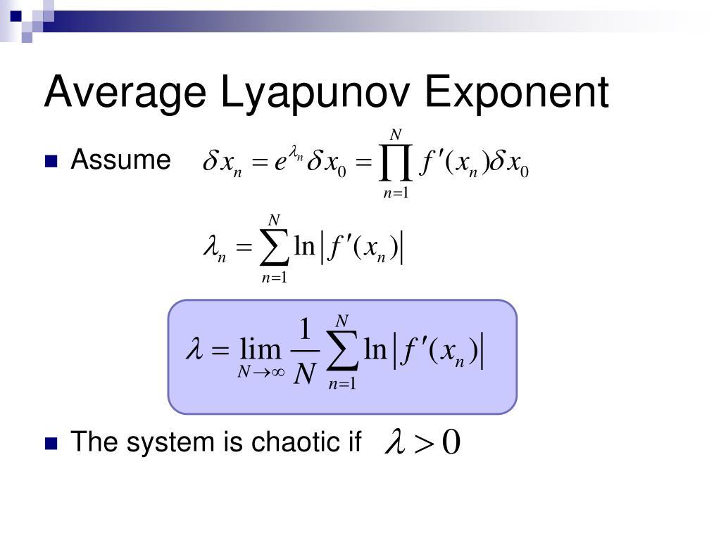 Average Lyapunov Exponent