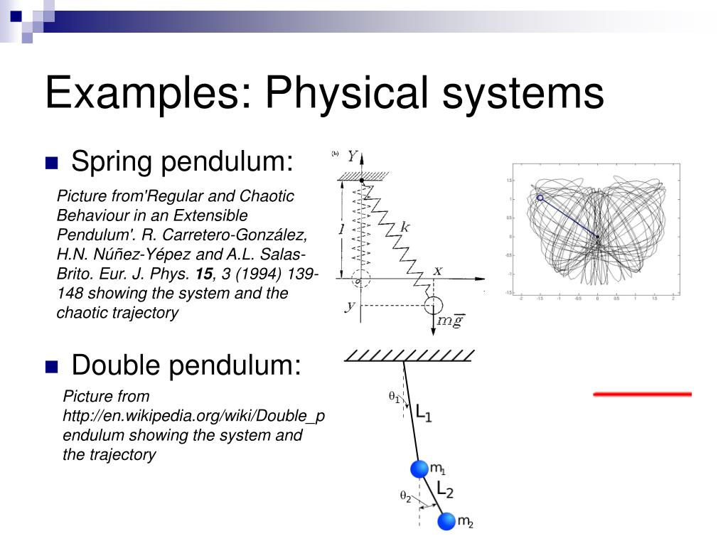Examples: Physical systems
