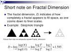 short note on fractal dimension37