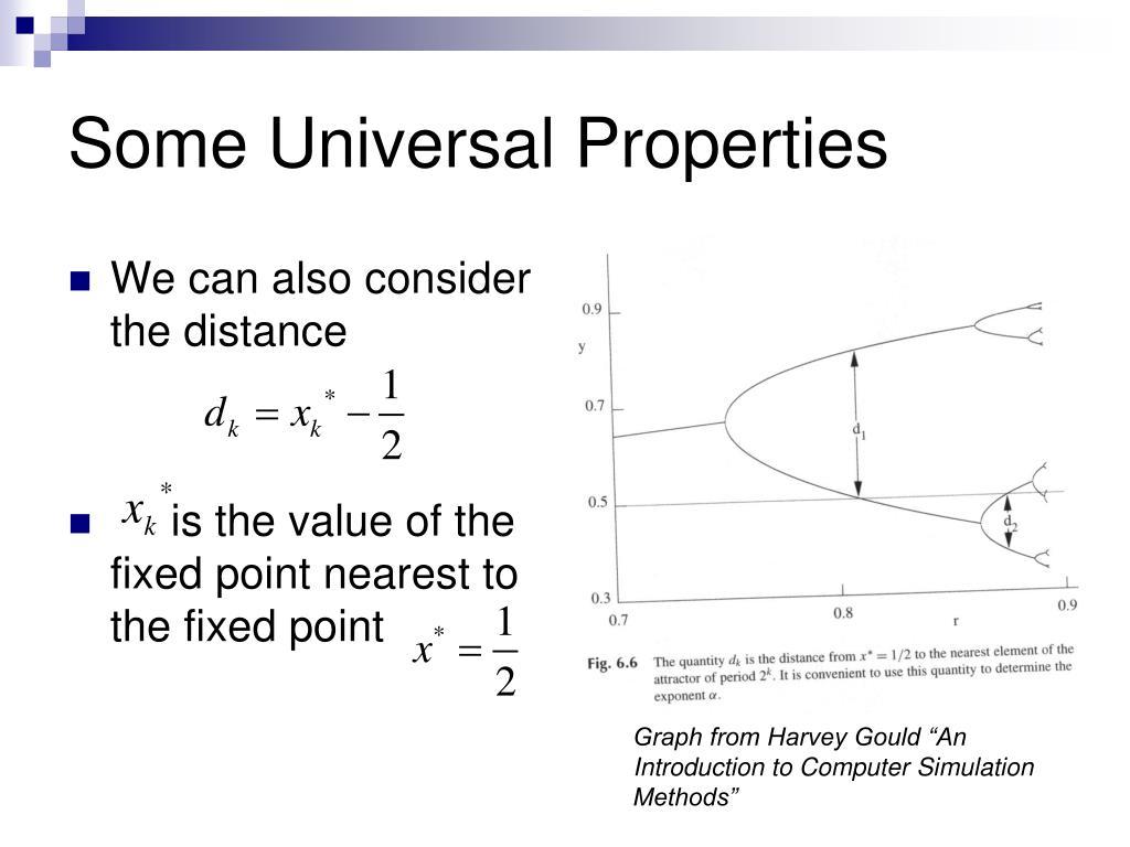 Some Universal Properties