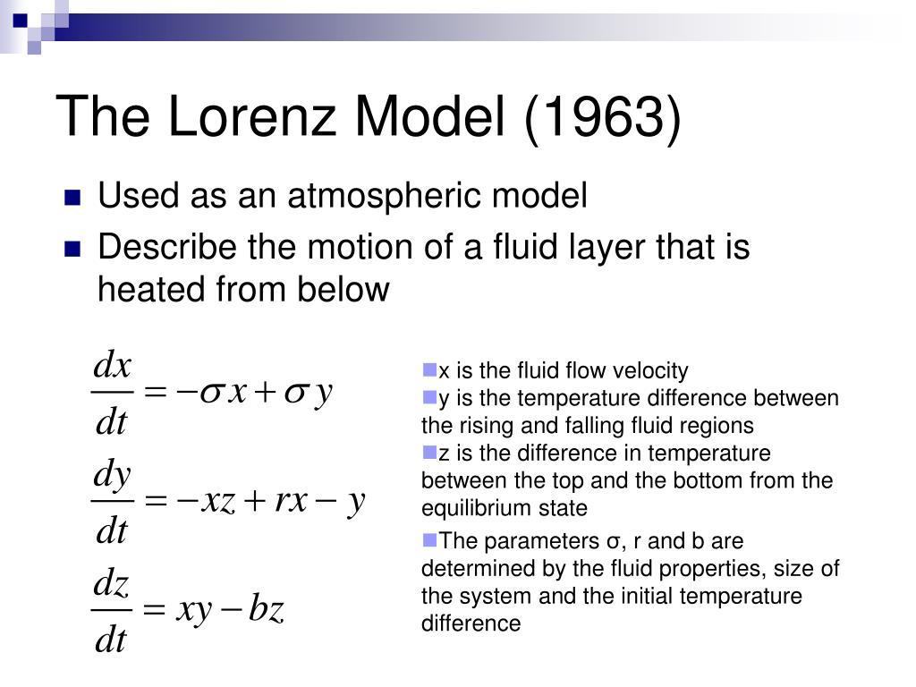 The Lorenz Model (1963)