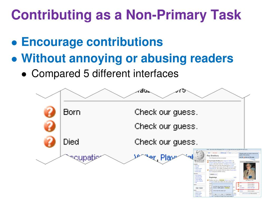 Contributing as a Non-Primary Task
