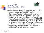 august 13 october class iii 17 62