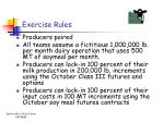 exercise rules