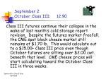 september 2 october class iii 12 90
