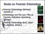 books on forensic entomology