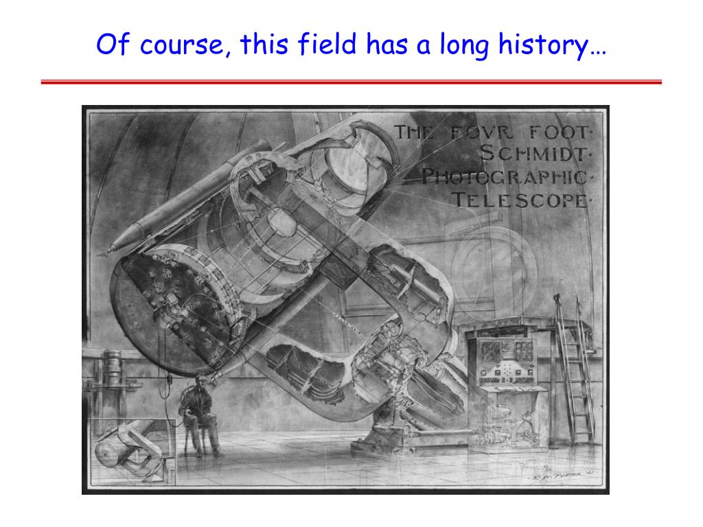 Of course, this field has a long history…