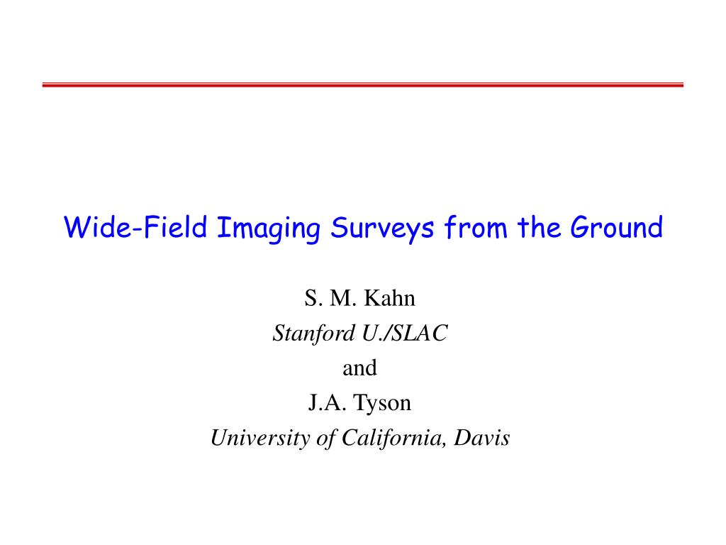 Wide-Field Imaging Surveys from the Ground