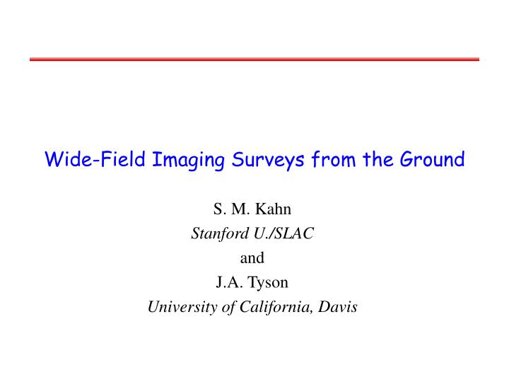 Wide field imaging surveys from the ground