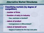 alternative market structures