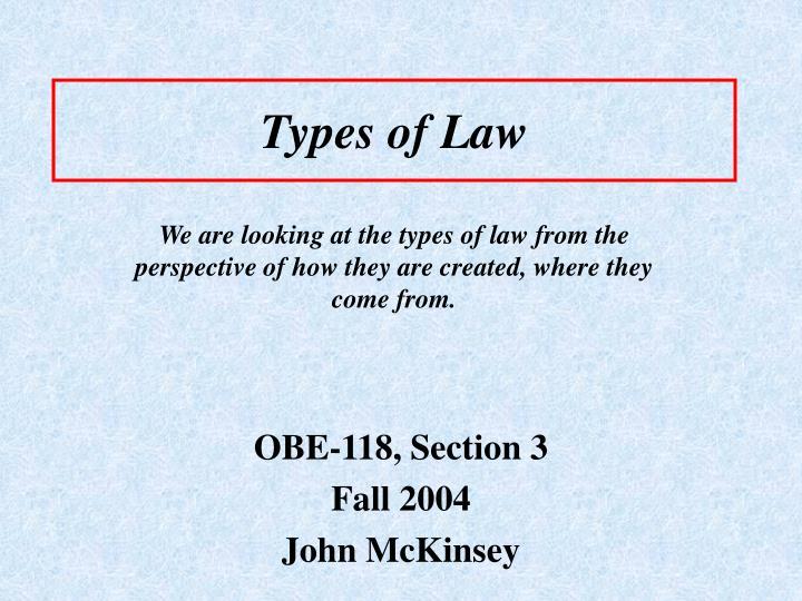 types of law n.