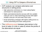 q1 using cvp to compare alternatives