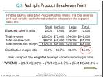 q3 multiple product breakeven point24