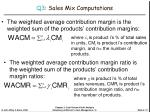q3 sales mix computations