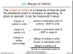 q6 margin of safety