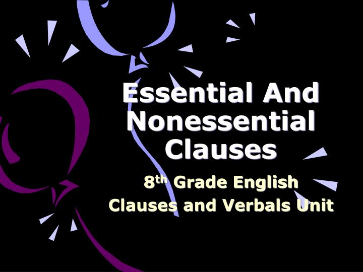 essential and nonessential clauses n.