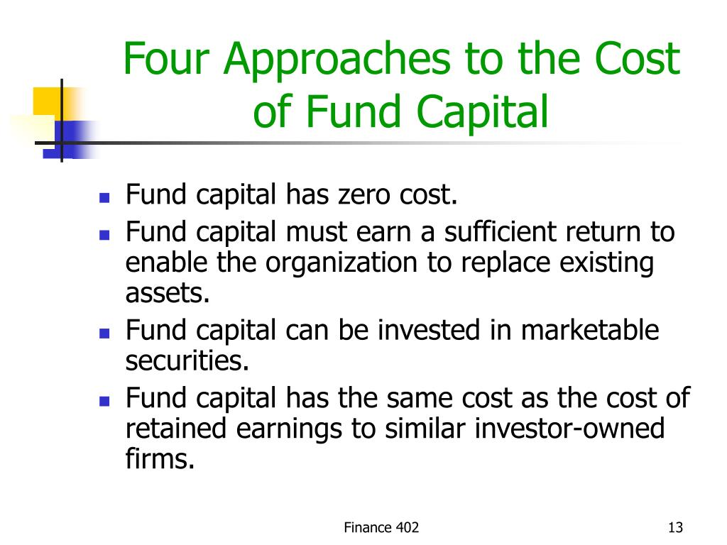 Four Approaches to the Cost of Fund Capital