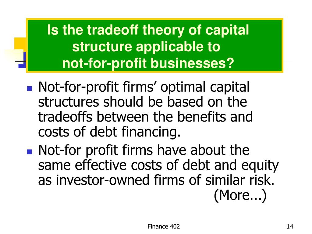 Is the tradeoff theory of capital