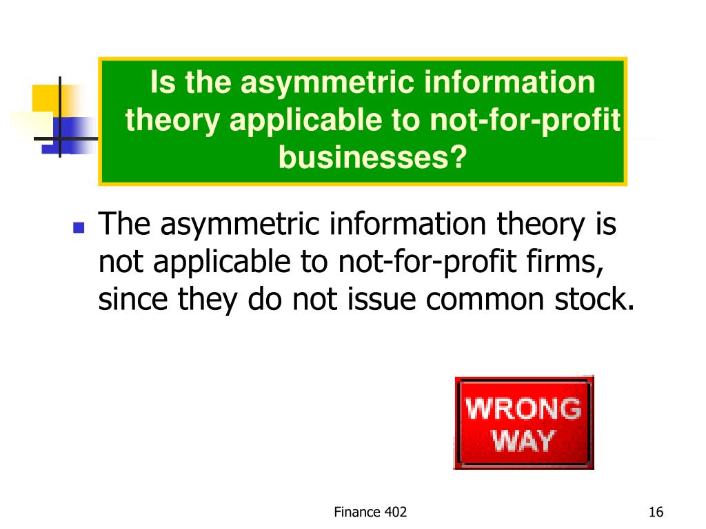 Is the asymmetric information