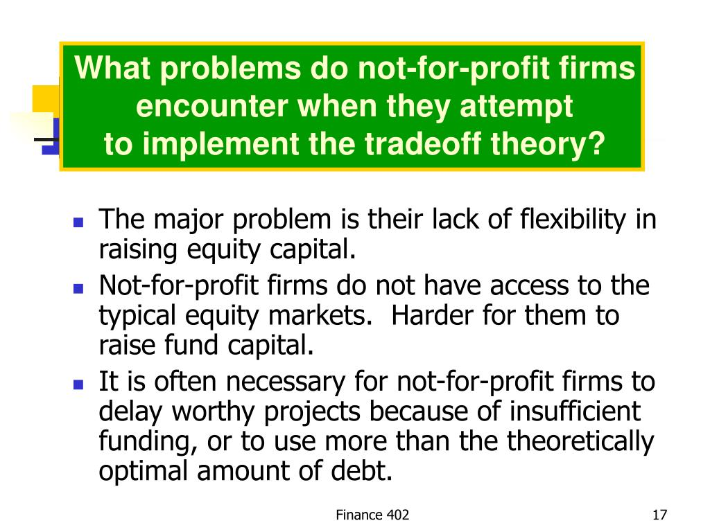 What problems do not-for-profit firms