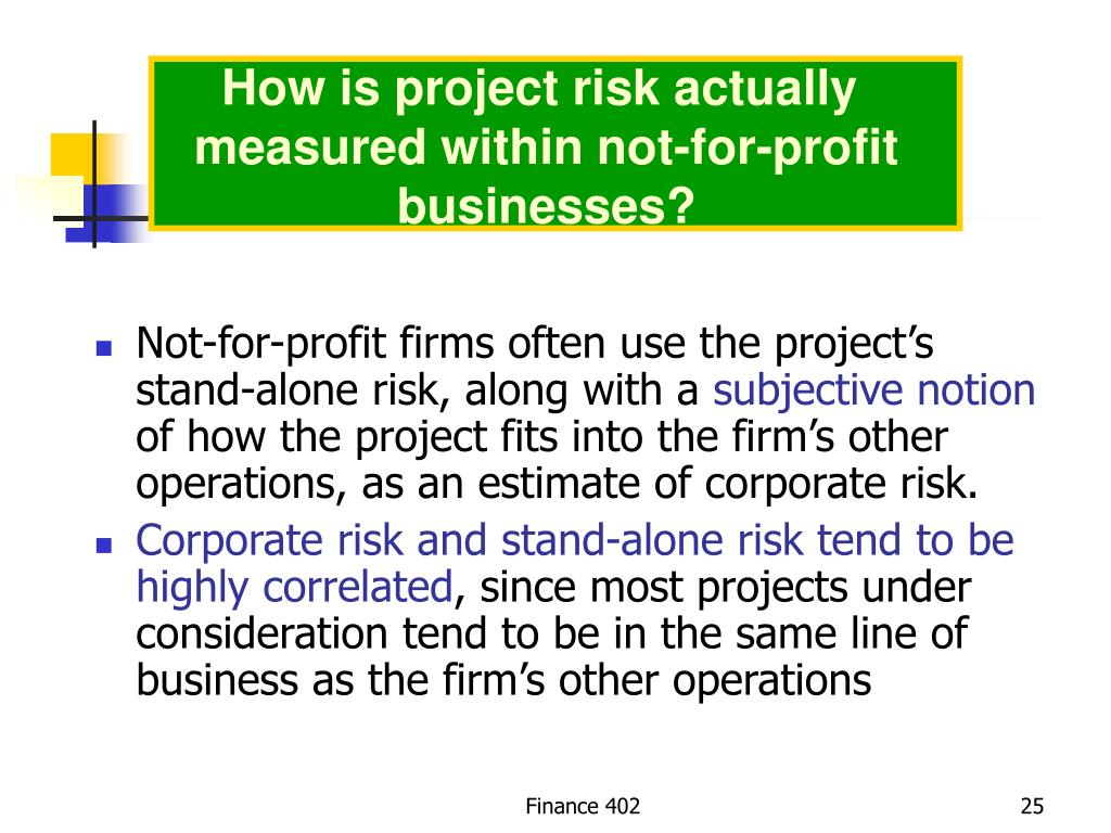 How is project risk actually