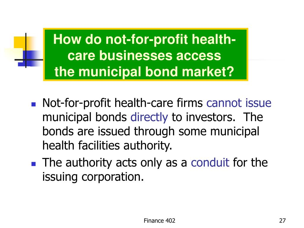 How do not-for-profit health-